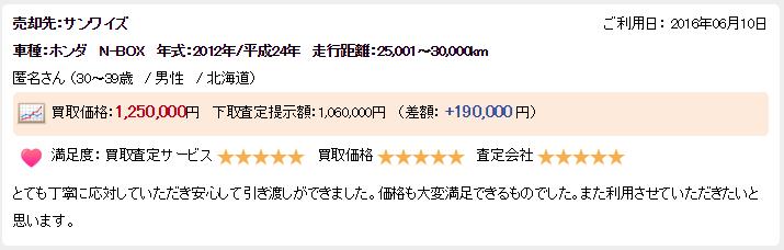 楽天オート北海道ランクル良い評判2