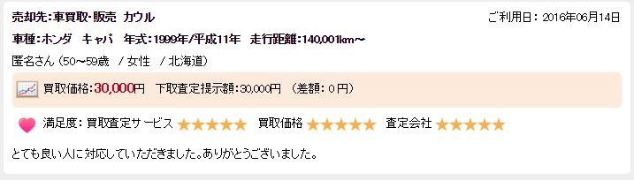 楽天オート北海道ランクル良い評判3