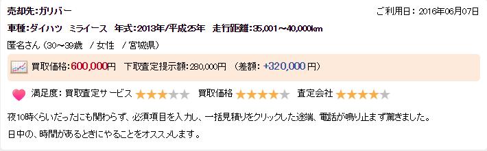 車買取宮城県口コミ・評判トップページ画像